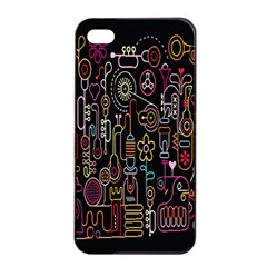 Features Illustration Apple Iphone 4/4s Seamless Case (black)