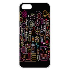 Features Illustration Apple Iphone 5 Seamless Case (white)