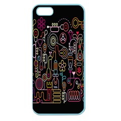 Features Illustration Apple Seamless Iphone 5 Case (color)