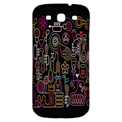 Features Illustration Samsung Galaxy S3 S Iii Classic Hardshell Back Case