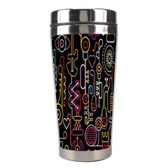 Features Illustration Stainless Steel Travel Tumblers