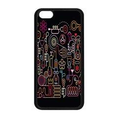 Features Illustration Apple Iphone 5c Seamless Case (black)