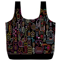 Features Illustration Full Print Recycle Bags (l)