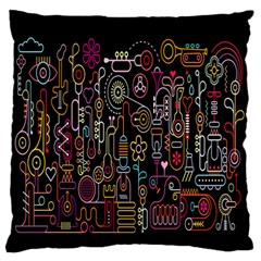 Features Illustration Standard Flano Cushion Case (one Side)
