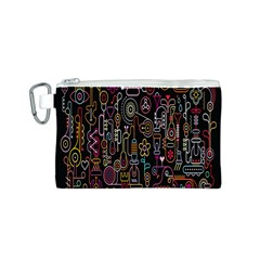 Features Illustration Canvas Cosmetic Bag (s)