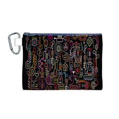 Features Illustration Canvas Cosmetic Bag (m)