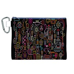 Features Illustration Canvas Cosmetic Bag (xl)