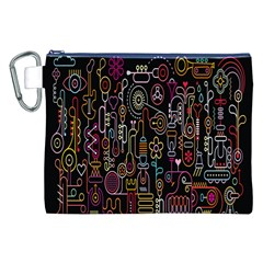 Features Illustration Canvas Cosmetic Bag (xxl)