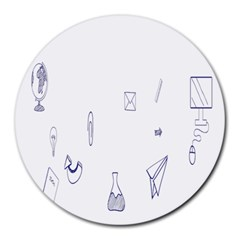 Formulas Laboratories Formulas Mathematics Chemistry Blue Round Mousepads