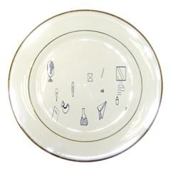 Formulas Laboratories Formulas Mathematics Chemistry Blue Porcelain Plates