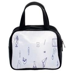 Formulas Laboratories Formulas Mathematics Chemistry Blue Classic Handbags (2 Sides)