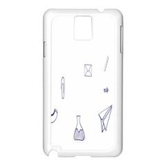 Formulas Laboratories Formulas Mathematics Chemistry Blue Samsung Galaxy Note 3 N9005 Case (white)