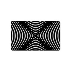 Gold Wave Seamless Pattern Black Hole Magnet (name Card)