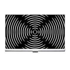 Gold Wave Seamless Pattern Black Hole Business Card Holders