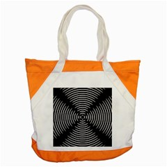 Gold Wave Seamless Pattern Black Hole Accent Tote Bag