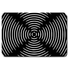 Gold Wave Seamless Pattern Black Hole Large Doormat