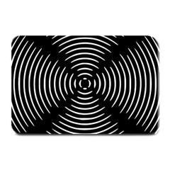 Gold Wave Seamless Pattern Black Hole Plate Mats