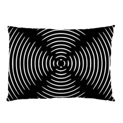 Gold Wave Seamless Pattern Black Hole Pillow Case