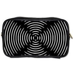 Gold Wave Seamless Pattern Black Hole Toiletries Bags 2 Side