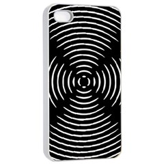 Gold Wave Seamless Pattern Black Hole Apple Iphone 4/4s Seamless Case (white)