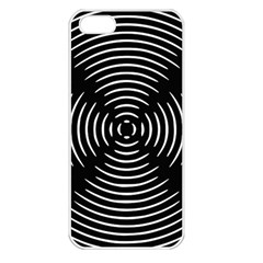 Gold Wave Seamless Pattern Black Hole Apple Iphone 5 Seamless Case (white)