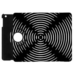Gold Wave Seamless Pattern Black Hole Apple Ipad Mini Flip 360 Case