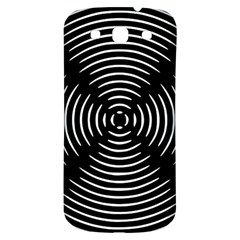 Gold Wave Seamless Pattern Black Hole Samsung Galaxy S3 S Iii Classic Hardshell Back Case