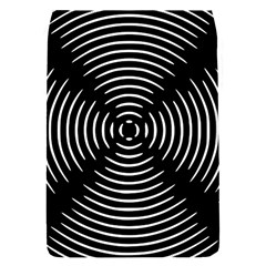 Gold Wave Seamless Pattern Black Hole Flap Covers (s)