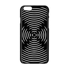 Gold Wave Seamless Pattern Black Hole Apple Iphone 6/6s Black Enamel Case
