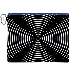 Gold Wave Seamless Pattern Black Hole Canvas Cosmetic Bag (xxxl)