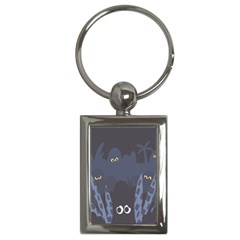 Ghost Halloween Eye Night Sinister Key Chains (rectangle)