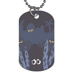 Ghost Halloween Eye Night Sinister Dog Tag (two Sides)