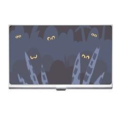 Ghost Halloween Eye Night Sinister Business Card Holders