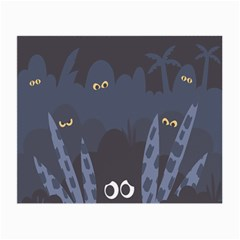 Ghost Halloween Eye Night Sinister Small Glasses Cloth (2 Side)