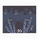 Ghost Halloween Eye Night Sinister Small Glasses Cloth (2-Side) Front