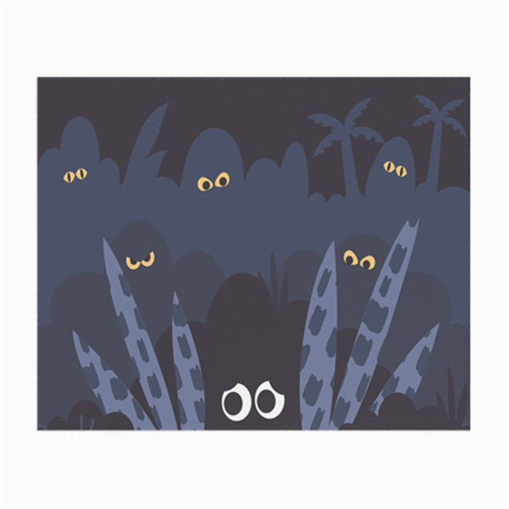 Ghost Halloween Eye Night Sinister Small Glasses Cloth (2-Side)