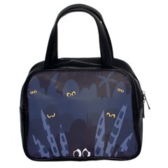 Ghost Halloween Eye Night Sinister Classic Handbags (2 Sides)