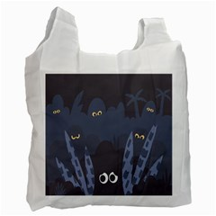 Ghost Halloween Eye Night Sinister Recycle Bag (two Side)