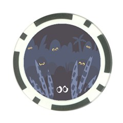 Ghost Halloween Eye Night Sinister Poker Chip Card Guard (10 Pack)