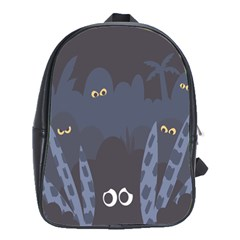 Ghost Halloween Eye Night Sinister School Bag (large)