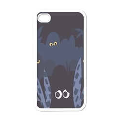 Ghost Halloween Eye Night Sinister Apple Iphone 4 Case (white)