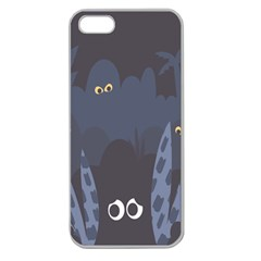Ghost Halloween Eye Night Sinister Apple Seamless Iphone 5 Case (clear)