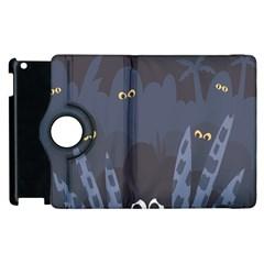 Ghost Halloween Eye Night Sinister Apple Ipad 3/4 Flip 360 Case