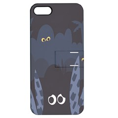 Ghost Halloween Eye Night Sinister Apple Iphone 5 Hardshell Case With Stand