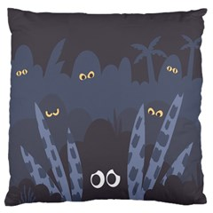 Ghost Halloween Eye Night Sinister Standard Flano Cushion Case (one Side)