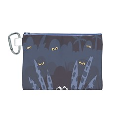 Ghost Halloween Eye Night Sinister Canvas Cosmetic Bag (m)