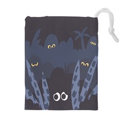 Ghost Halloween Eye Night Sinister Drawstring Pouches (extra Large)