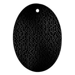 Gray Plaid Black Oval Ornament (two Sides)