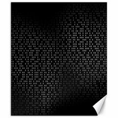 Gray Plaid Black Canvas 20  X 24