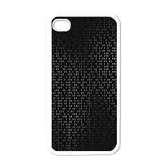Gray Plaid Black Apple Iphone 4 Case (white)